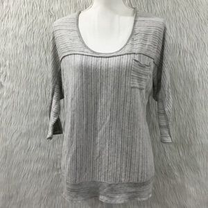 Calvin Klein jeans knitted gray top size large